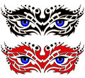 Eyes, tribal tattoo Royalty Free Stock Photography