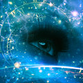 Eyes of the universe abstract environmental backgrounds Stock Photo