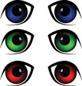 Eyes vector illustration Stock Images