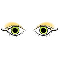 Eyes young women look forward silhouette. vector illustration Royalty Free Stock Photo