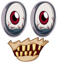 Eyes of a zombie illustration the on white background Royalty Free Stock Photos