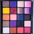 Eyeshadow makeup palette closeup square shape Stock Image
