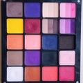 Eyeshadow makeup palette closeup square shape Stock Image