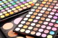 Eyeshadow palette closeup of an Royalty Free Stock Photos