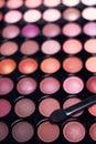 Eyeshadow palette professional set Stock Images