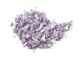 Eyeshadow pile of crushed isolated on white background Royalty Free Stock Image