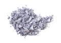 Eyeshadow pile of crushed isolated on white background Royalty Free Stock Images