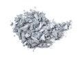 Eyeshadow pile of crushed isolated on white background Stock Images