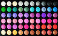 Eyeshadow set make up colorful palettes as background Stock Images