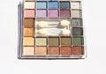 Eyeshadow in various colors modern makeup Stock Photo