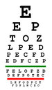 Eyesight test chart isolated on white background Stock Photo
