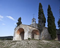 Eygalières the little chapel of saint sixte xii century in eygualières alpilles france Stock Photography