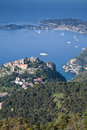 Eze hilltop village on the Cote d'Azur Royalty Free Stock Photos