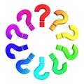 Färg questions hjulet Royaltyfri Foto