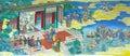 Färgkungariken som målar bild tre Royaltyfri Bild