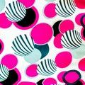 Färgrik bollmodell för konsttextur eller rengöringsdukdesign och backgrou Arkivfoton