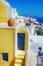 Färgrika Santorini, Oia town Royaltyfri Fotografi