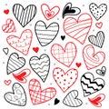 Förälskelse för älskling i dig valentine heart cute cartoon vector Fotografering för Bildbyråer