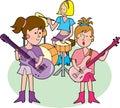 För band rock flickaktigt Arkivbilder