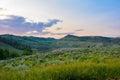 För colorado för sen sommar solnedgång berg Royaltyfria Foton