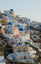 By för greece öoia santorini Royaltyfri Foto