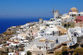 By för greece öoia santorini Royaltyfri Fotografi