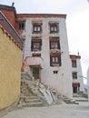 För india för byggnad extern stege ladakh Arkivbild