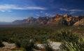 För nevada för områdeskanjonbeskydd nationell rock red Royaltyfri Bild