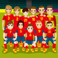 Fútbol team portrait Foto de archivo