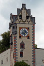 Füssen tower of the high castle in Stock Image