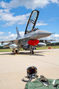 F-16 suit and helmet Royalty Free Stock Photos