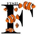 F (fish) Royalty Free Stock Photo