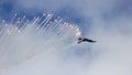 F-16 flares Royalty Free Stock Photo