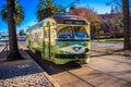 F-line tram in San Francisco, California, USA Stock Photos