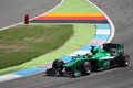 F photo formula one caterham cars stock photo race car with driver kamui kobayashi Stock Image