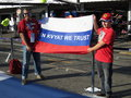F photo formula one daniil kvyat fans with russian flag supporting str renault red bull driver Stock Photography