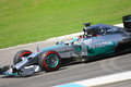 F1 Photo Formula One Mercedes Car : Lewis Hamilton Royalty Free Stock Photo