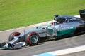 F1 Photo Formula One Mercedes Car : Lewis Hamilton Royalty Free Stock Photo