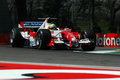 22 April 2005, San Marino Grand Prix of Formula One. Ralph Schumacher drive Toyota F1 during Qualyfing session on Imola Circuit Royalty Free Stock Photo
