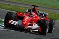 22 April 2005, San Marino Grand Prix of Formula One. Rubens Barrichello drive Ferrari F1 during Qualyfing session on Imola Circuit Royalty Free Stock Photo