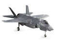 F35 strike aircraft angled