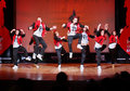 F-team group dance at Hip Hop International Cup Stock Photos