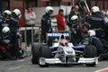 F1 2009 - Robert Kubica BMW Sauber Royalty Free Stock Photo