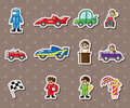 F1 car  racing stickers Royalty Free Stock Image