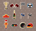 F1 racing stickers Royalty Free Stock Photos
