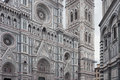 Façade of de florence cathedral in italy Stock Image