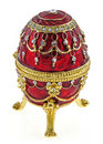 Faberge egg  jewelry box Stock Photography