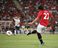 Fabio da silva of man utd bangkok july in action during singha th anniversary cup manchester united vs singha all star at Stock Images