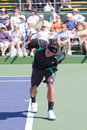 Fabio Fognini at the 2010 BNP Paribas Open Stock Photos