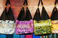 Fabric asian bags Royalty Free Stock Photography